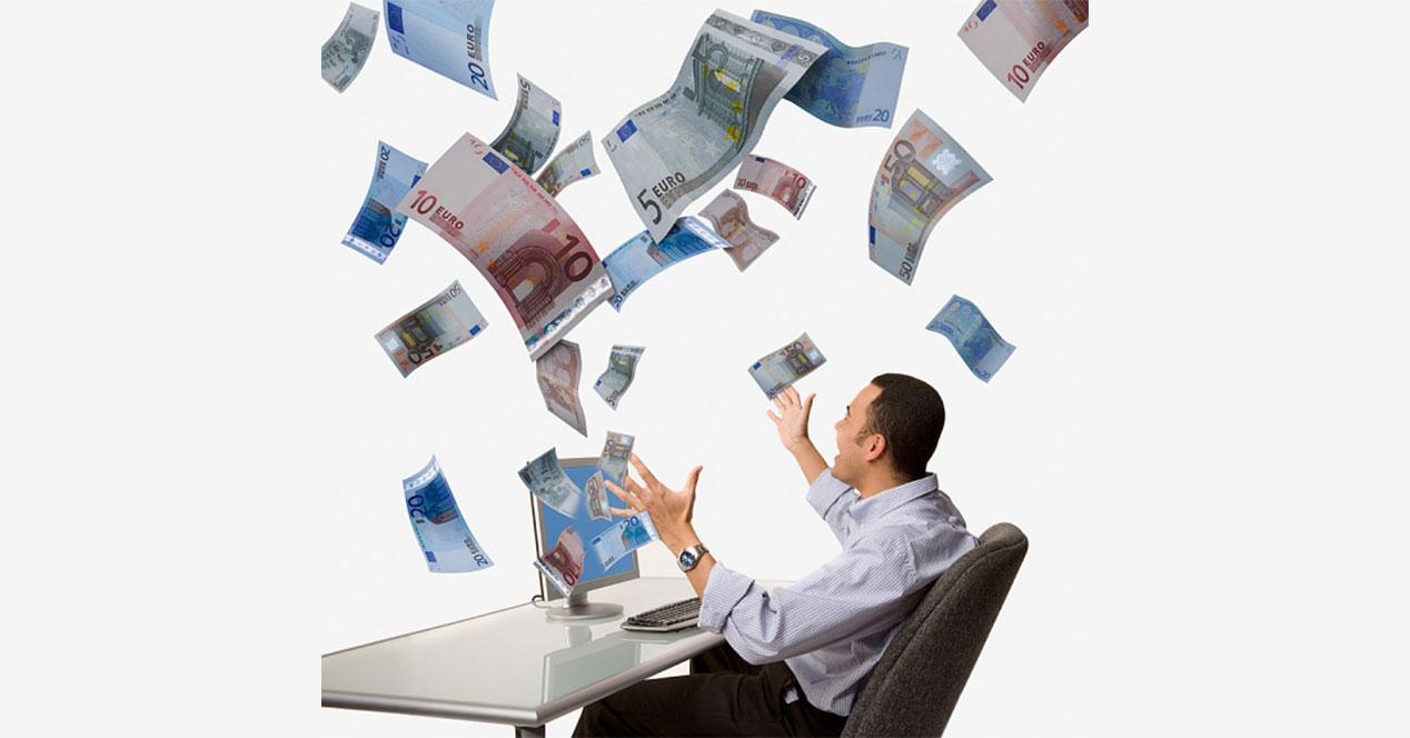 billetes euros volando ahorro