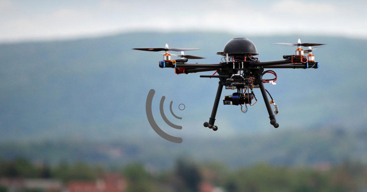 dron señal transpondedor