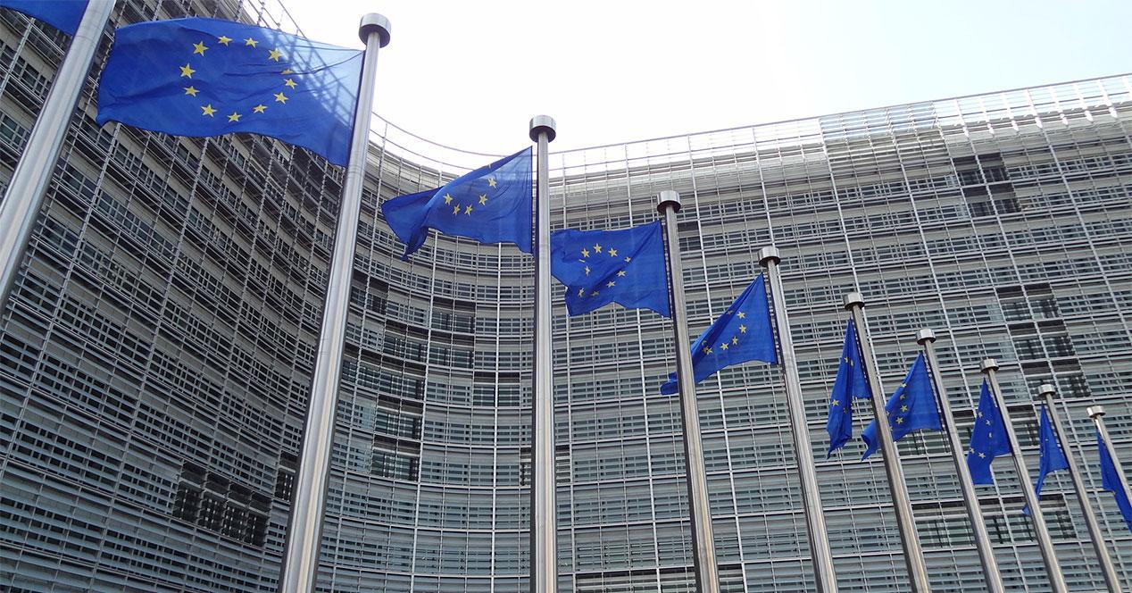 UE banderas sede