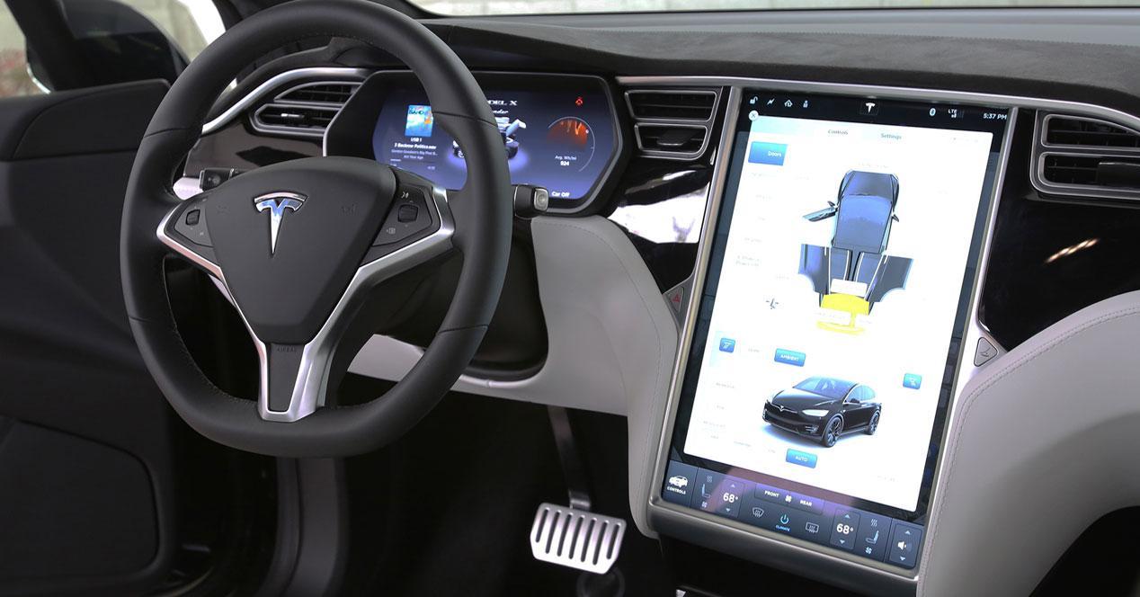 Interior de un Tesla Model X