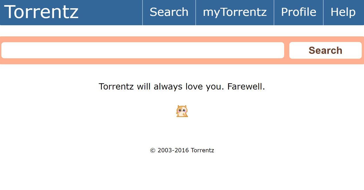 Interfaz de Torrentz