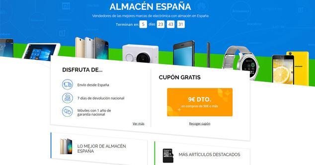 aliexpress almacen España