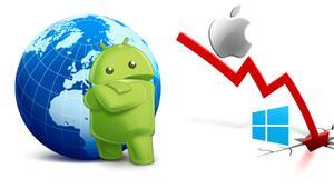 Android lidera las ventas en España mientras iOS cae y Windows casi desaparece