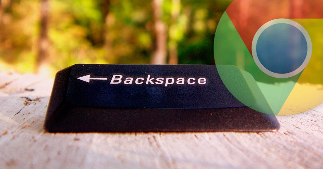 Vuelta de backspace en Chrome