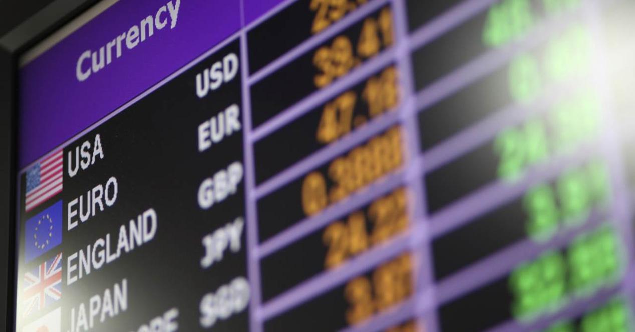 Panel de valores de divisas