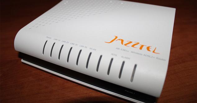 jazztel router apagado