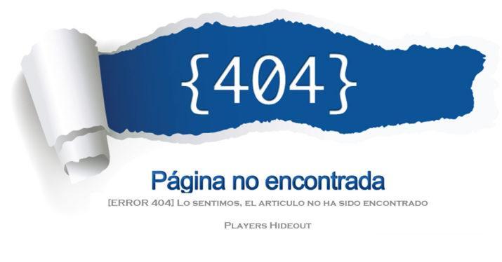 Error 404 en una web
