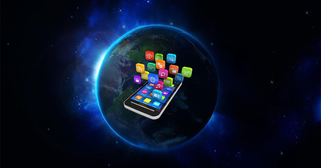 telefono planeta tierra global smartphone