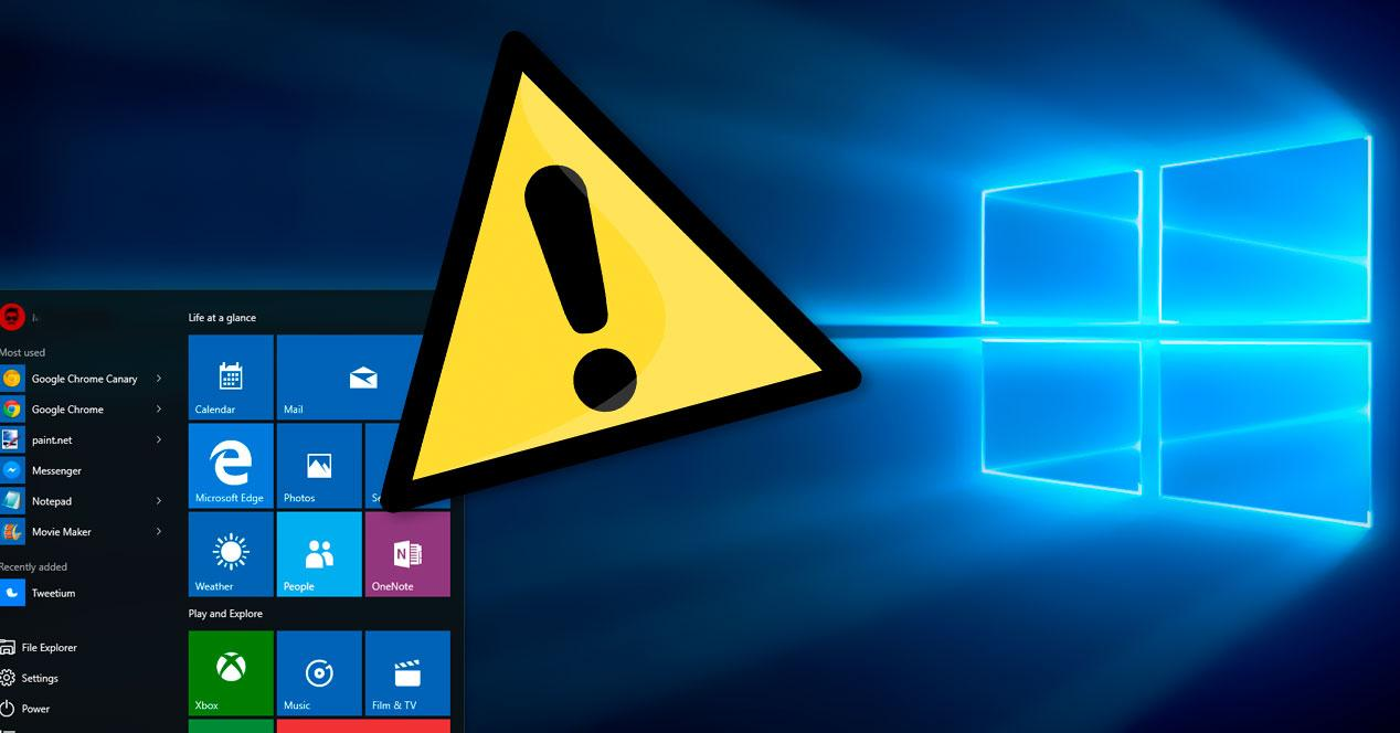 Errore actualización Windows 10
