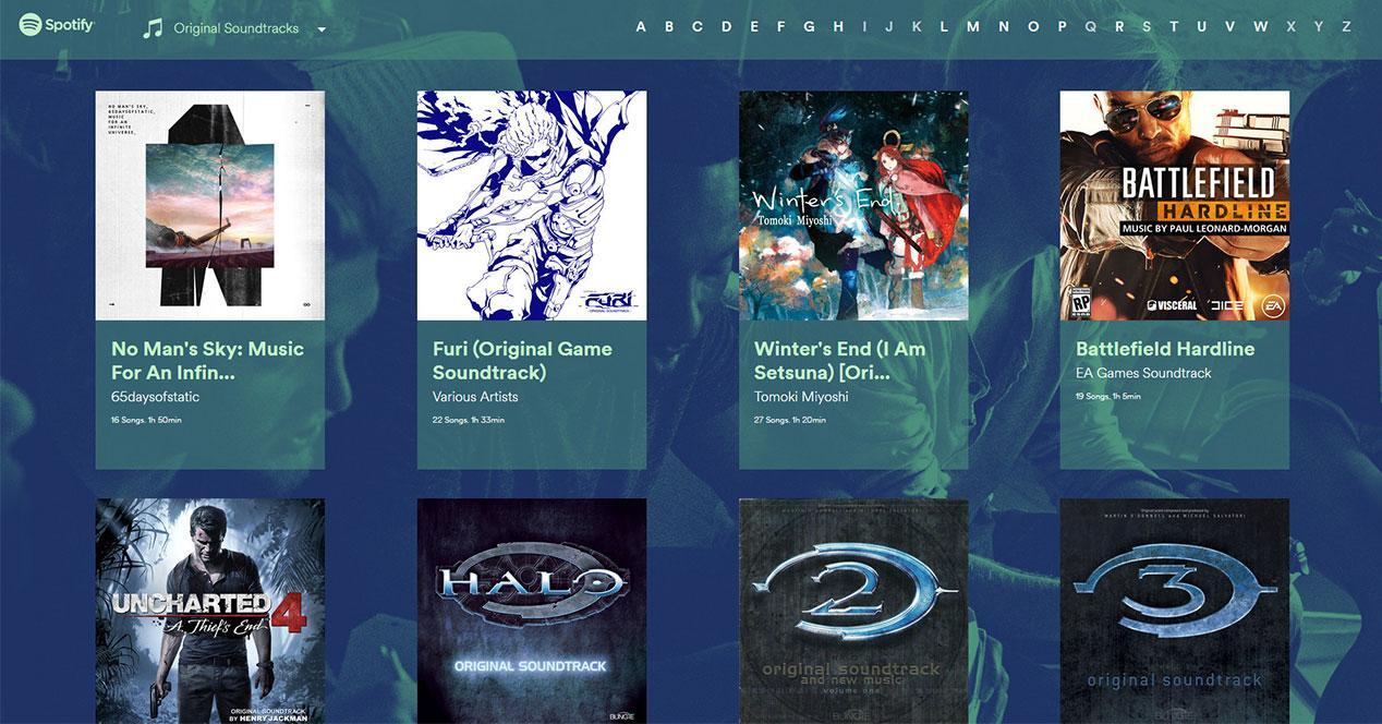 Spotify Gaming: las bandas sonoras de los videojuegos ya