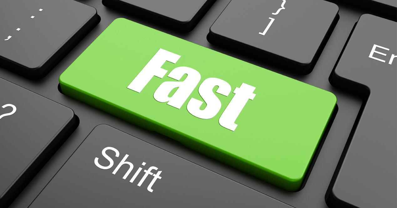 teclado de ordenador rapido fast