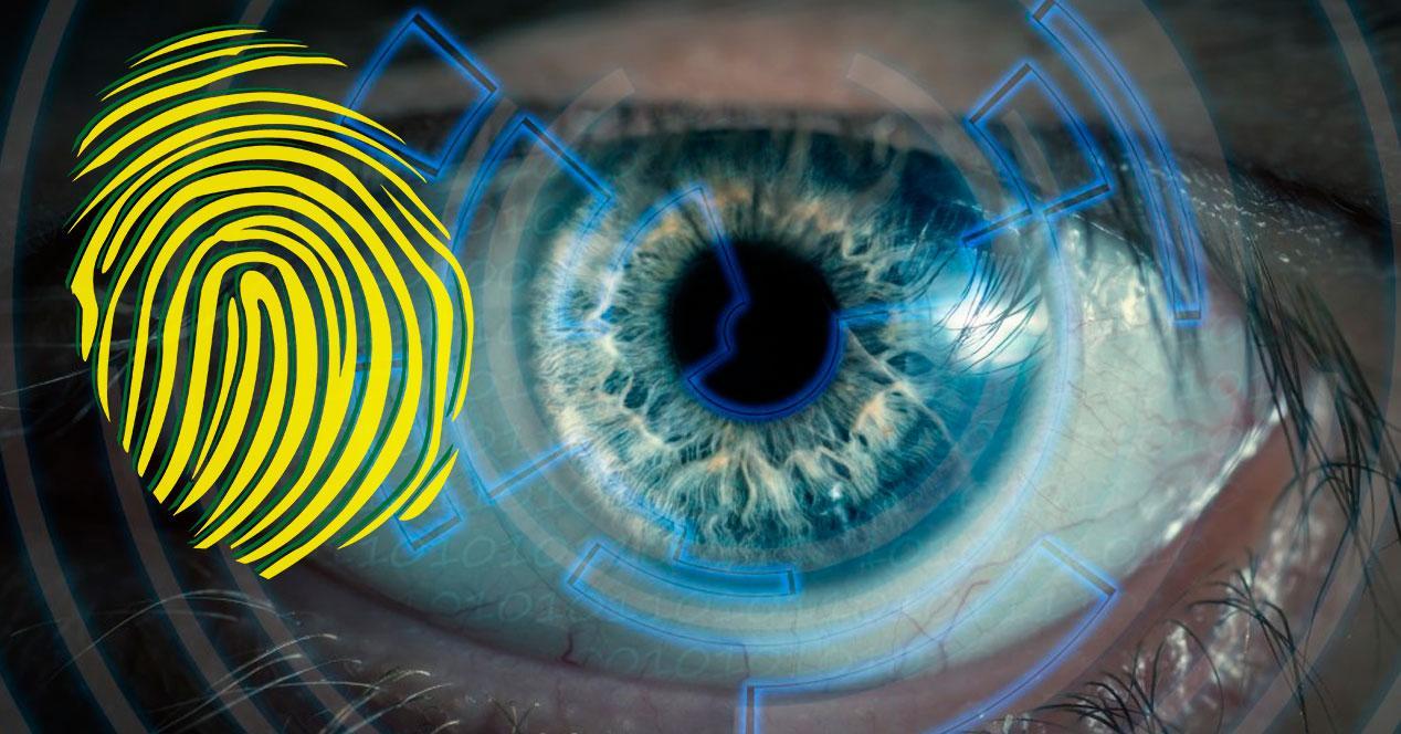 huella dactilar o reconocimiento iris