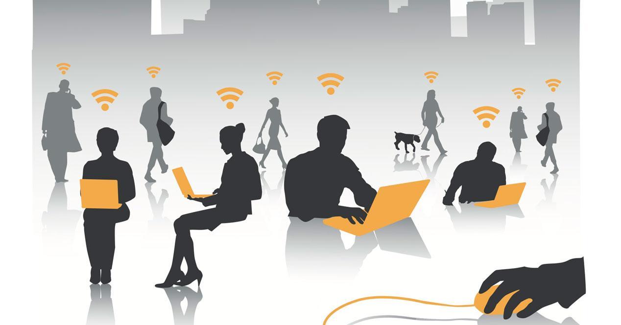 WiFi pública en la ciudad