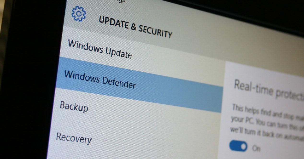 antivirus windows defender en windows 10
