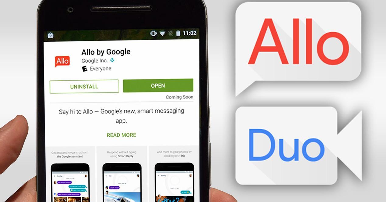 Aplicaciones Google Duo y Google Allo