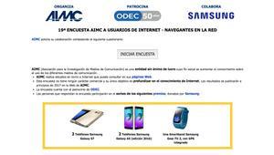 Vuelve la encuesta AIMC con el sorteo de dos Samsung Galaxy S7