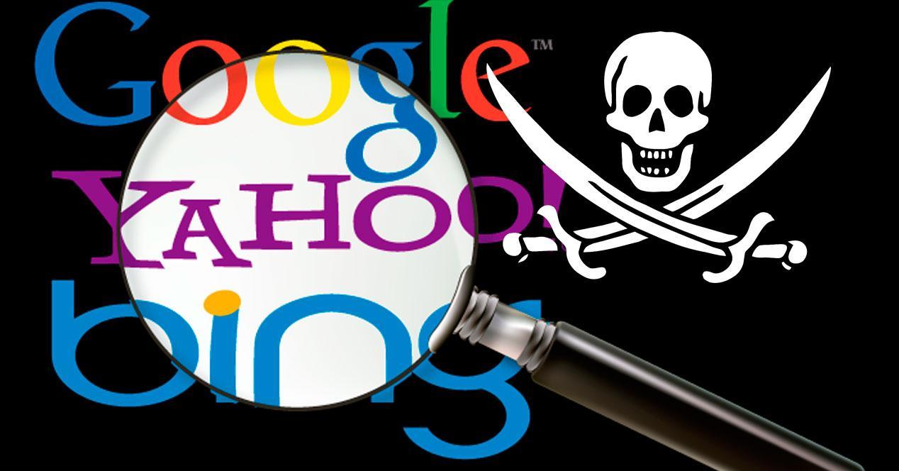 contenido pirata en buscadores