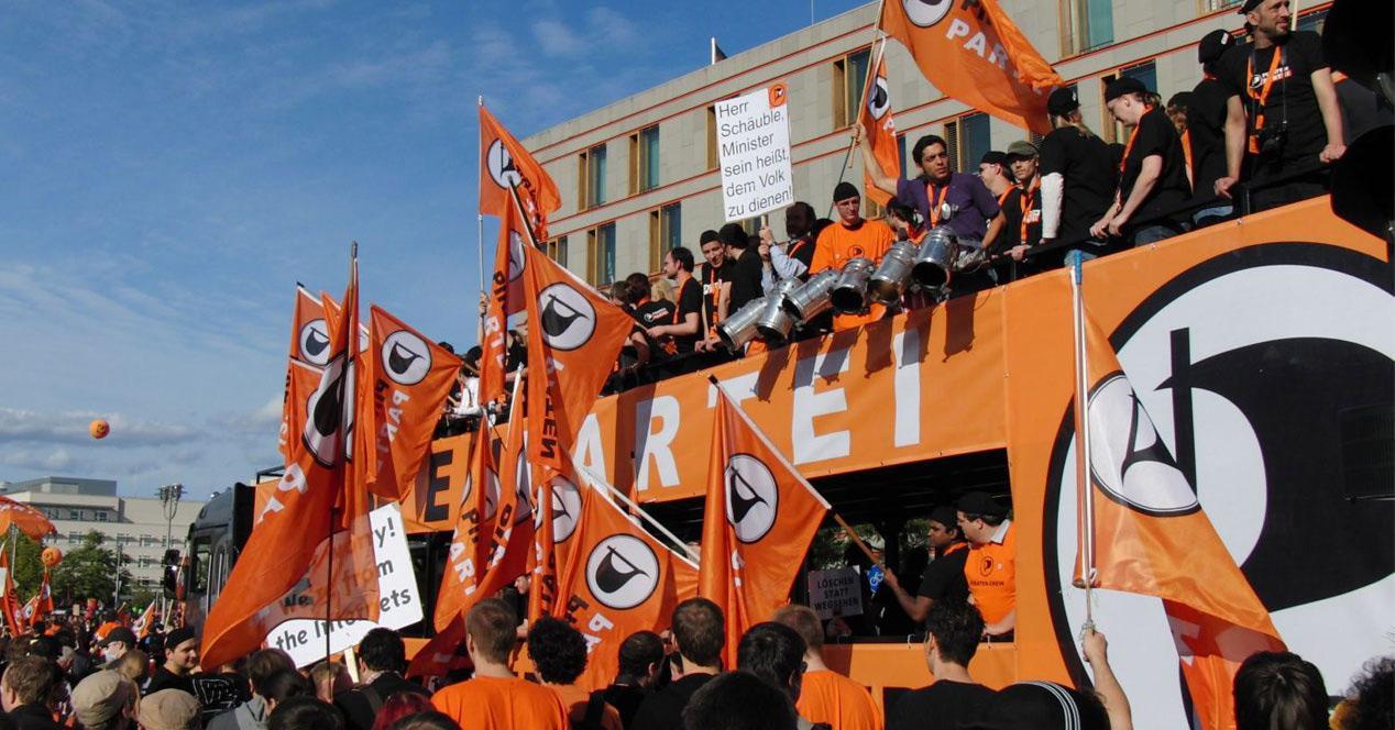 Seguidores del Partido Pirata