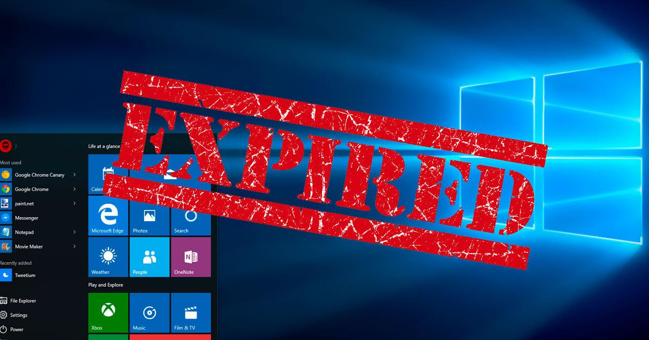 Windows 10 expired