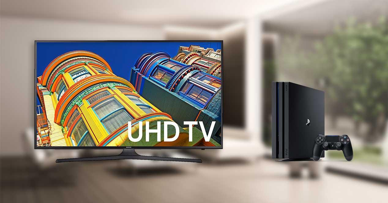 salon-television-4k-uhd-samsung-ps4-playstation-4-pro