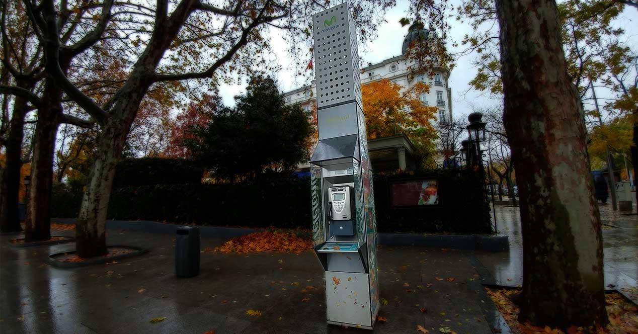 cabina telefónica madrid