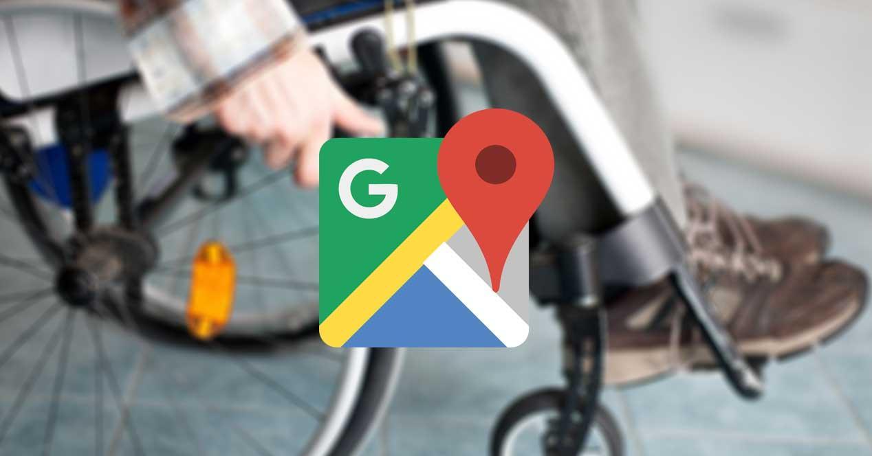 google maps silla de ruedas