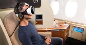 Realidad virtual en un avion