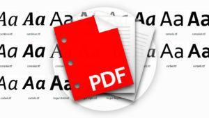 Cómo saber las fuentes utilizadas en un documento PDF