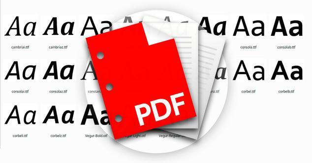 fuentes PDF