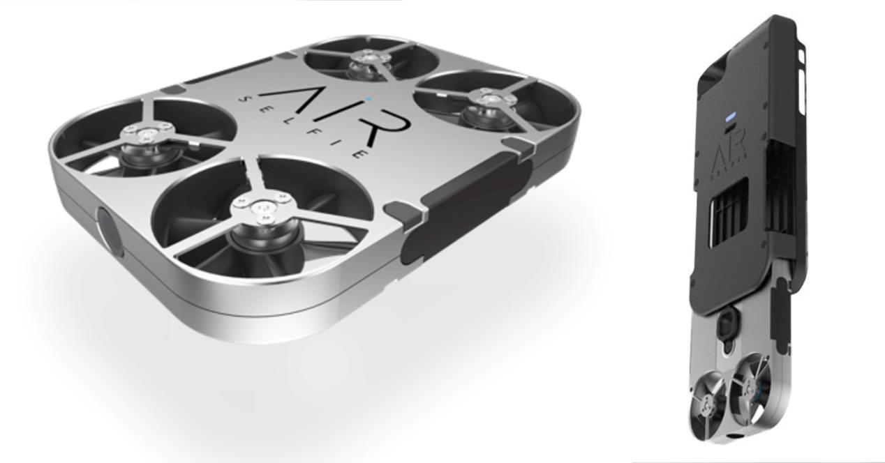 drone airselfie en carcasa