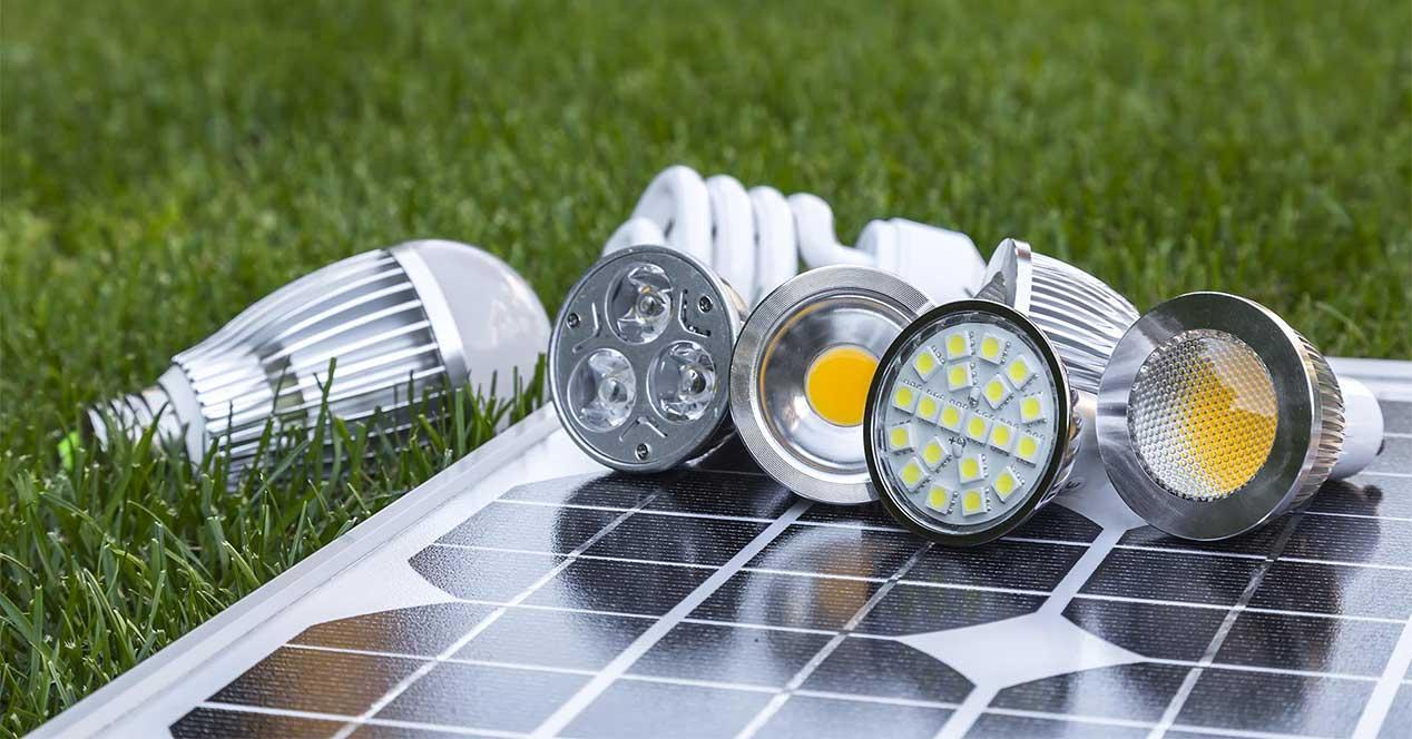 Ahorrar electricidad cambiando las bombillas de incandescencia por unas LEDs