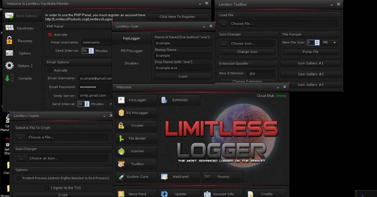 limitless keylogger pro