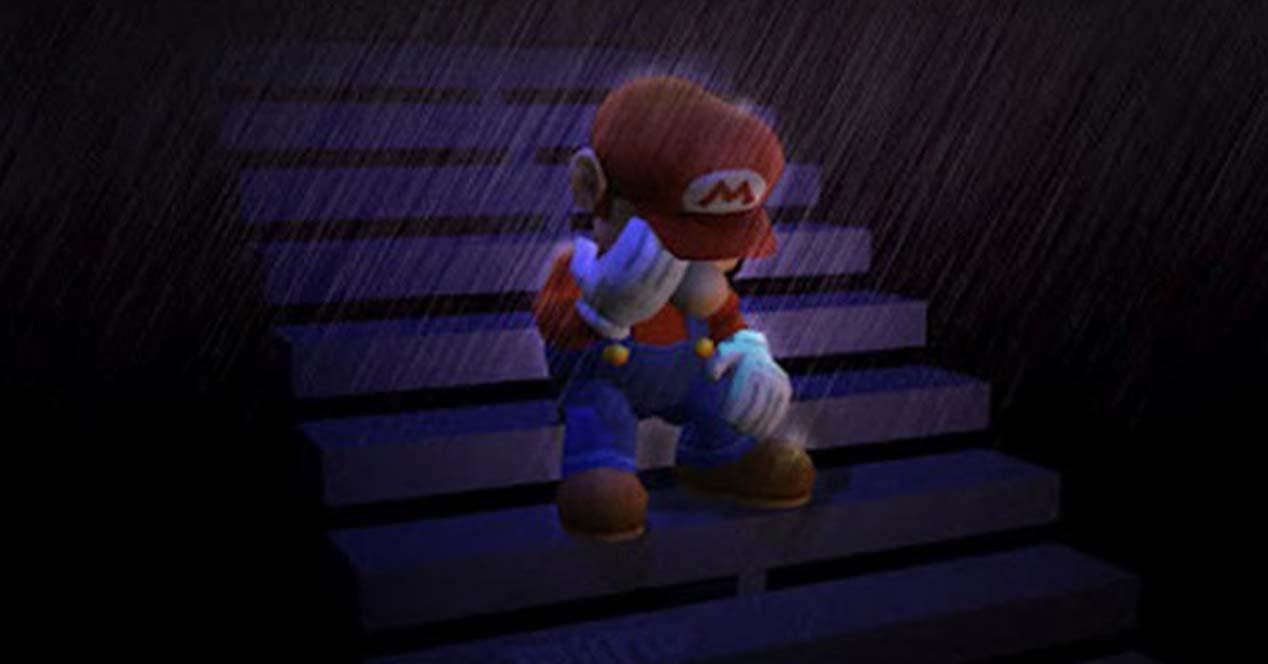super mario triste