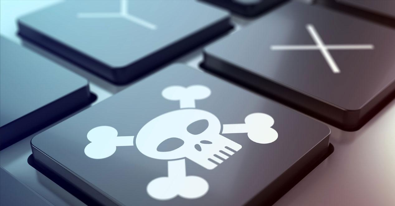 Piratería teclado virus