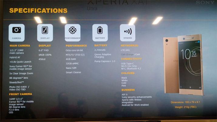 Sony Xperia AX1 Ultra