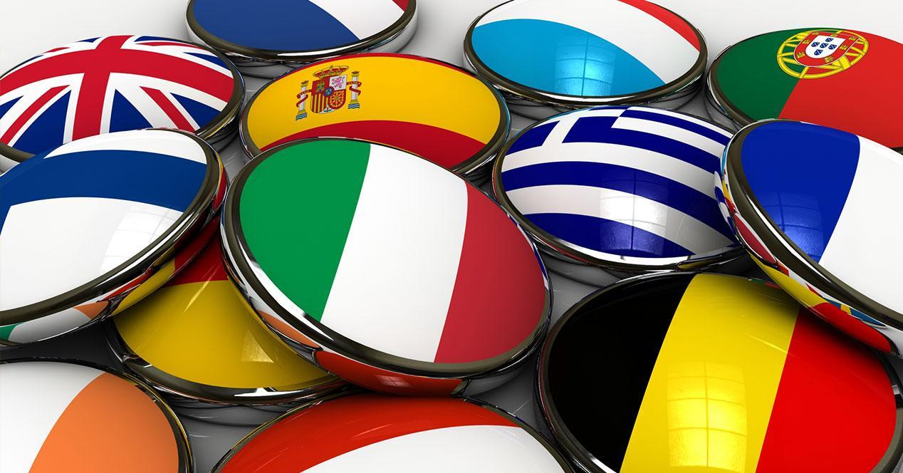 chapas con banderas de paises de europa