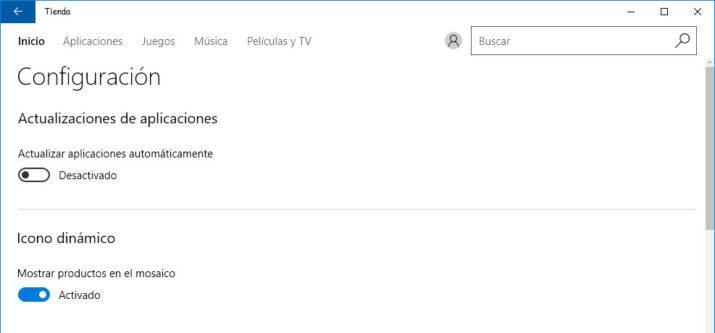 actualizaciones automáticas aplicaciones de Windows 10