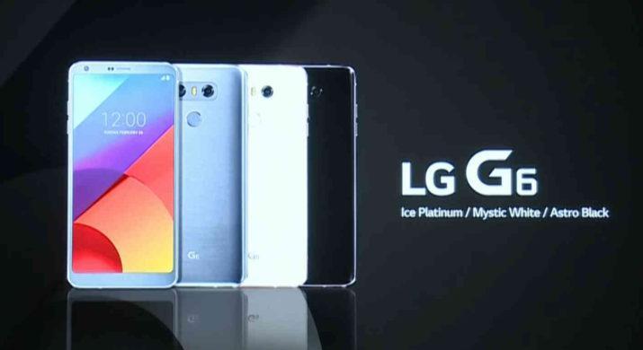 lg g6 colores oficiales