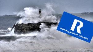 Incidencia masiva en la operadora R por el temporal en Galicia