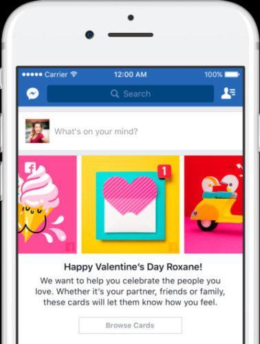 tarjetas San Valentín Facebook