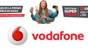 Vodafone ofrece gratis el doble de GB en prepago hasta finales de marzo