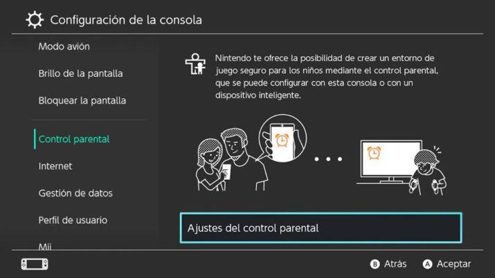 control parental en Nintendo Switch