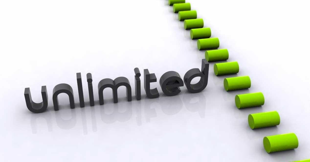 ilimitadas datos ilimitados almacenamiento ilimitado