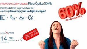 Movistar rebaja su fibra hasta un 60% durante un año
