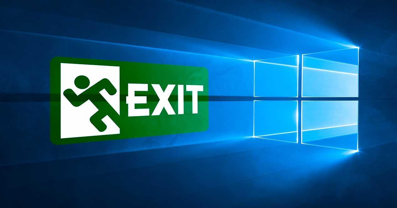 Windows 10 logo exit
