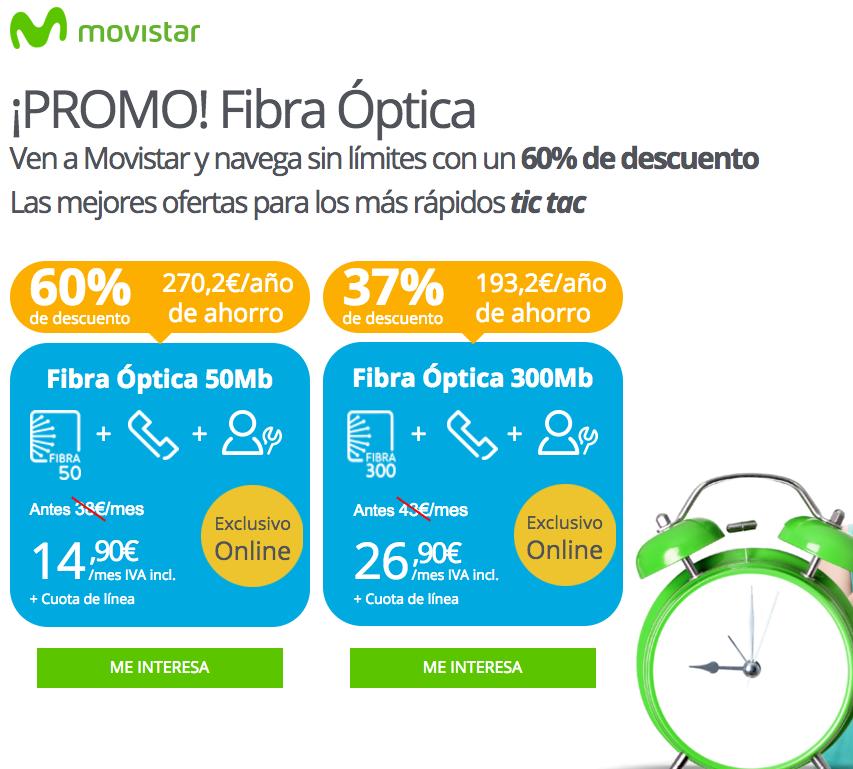 oferta movistar fibra óptica
