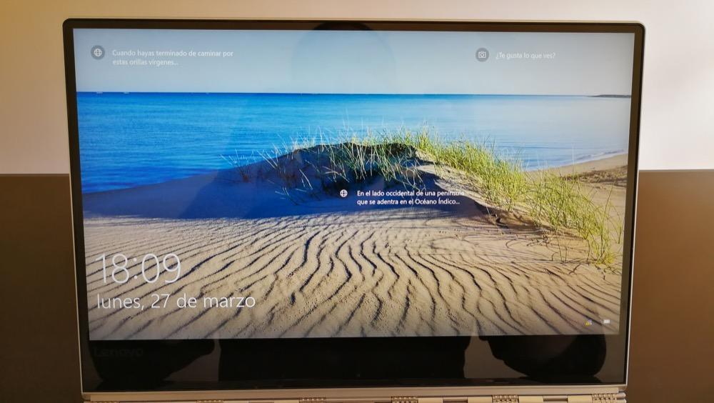 Lenovo Yoga 910 pantalla
