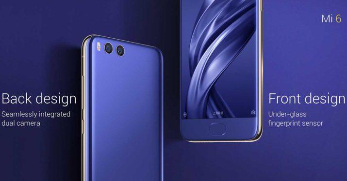 Xiaomi Mi 6 frontal-trasera