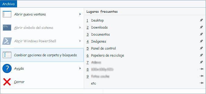 explorador de archivos de Windows 10