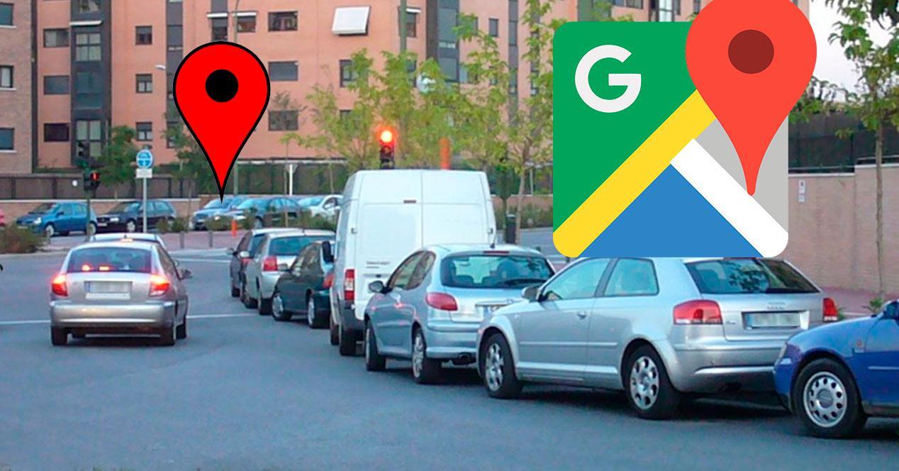 aparacar el coche Google Maps